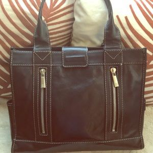 Michael Kors Black leather structured tote